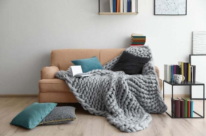 A cozy living room set-up.