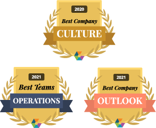 Comparably Awards for Best Company Outlook and Best Operations Team